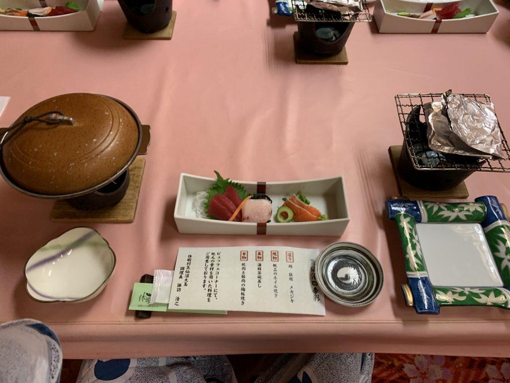 休暇村気仙沼の夕食