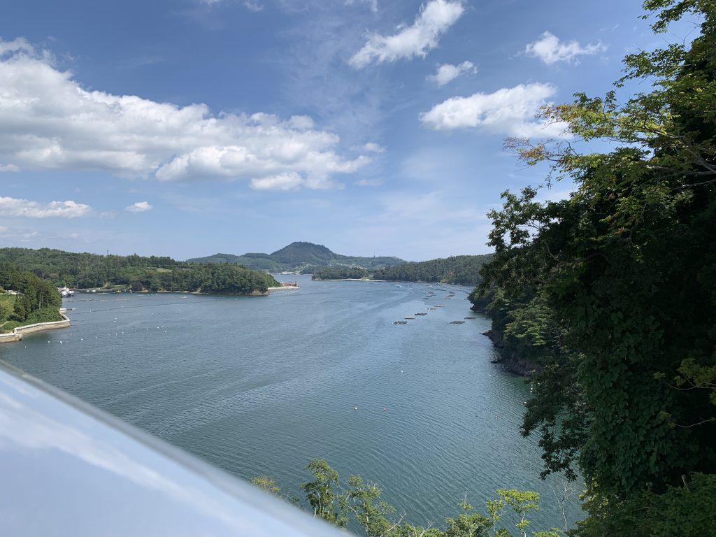 気仙沼大橋から撮った写真